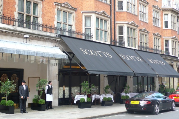 Scott's restaurant in Mayfair