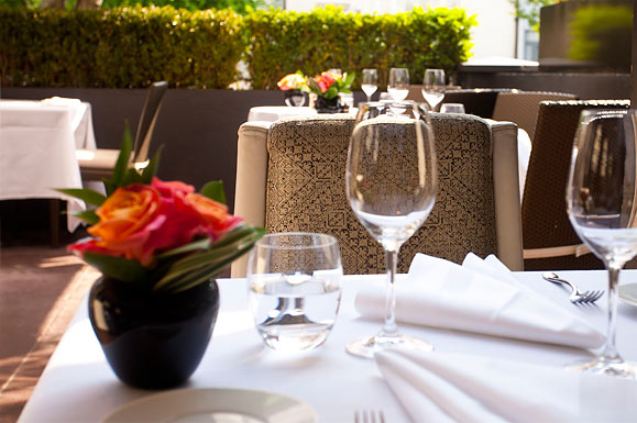 The terrace at The Ledbury, Notting Hill