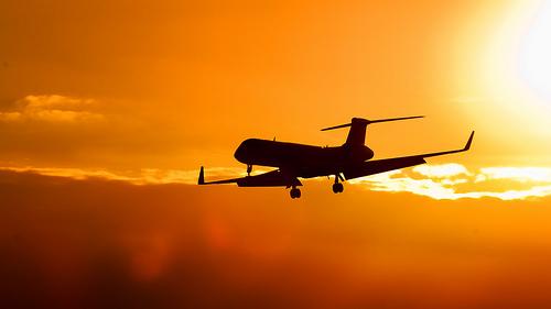 Landing Plane by Raphael Wildhaber