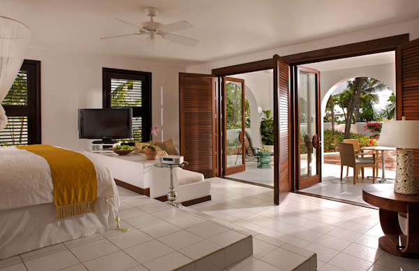 The bedrooms at Cap Juluca in Anguilla