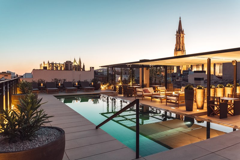 The rooftop bar at Hotel Sant Francesc in Palma
