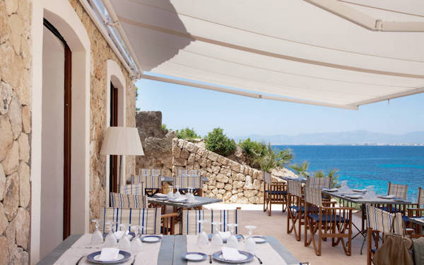 The restaurant at Cap Rocat in Mallorca