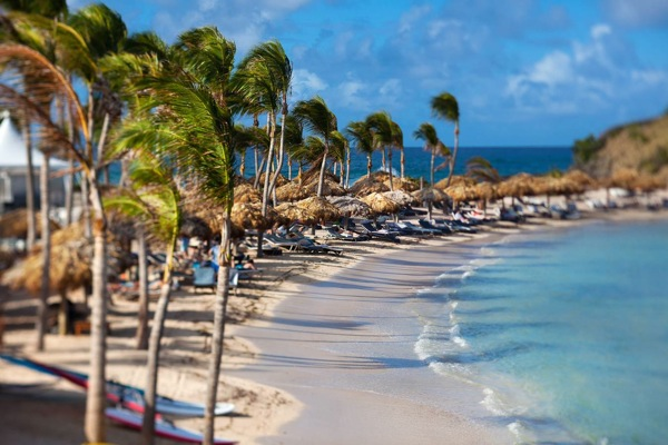 The beach at Le Guanahani in St Bart's