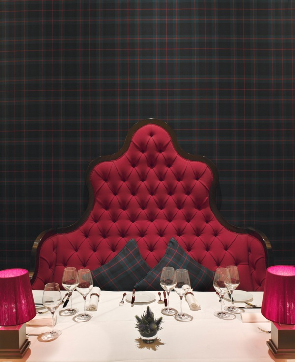 The tartan at Grill at The Dorchester