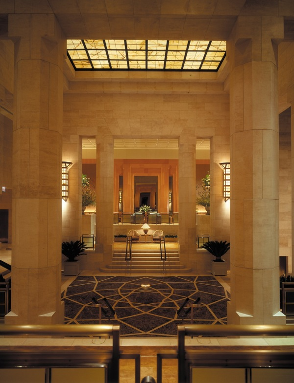 The lobby at the Four Seasons New York