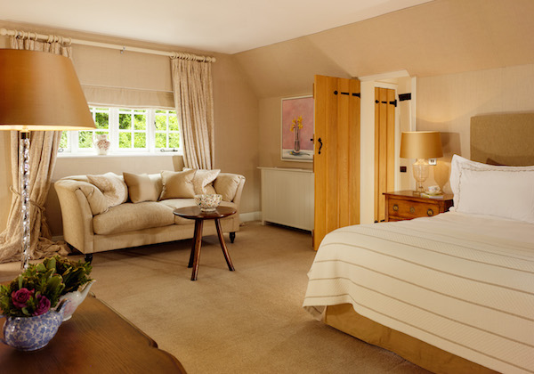 The bedrooms at The Dower House at Coworth Park