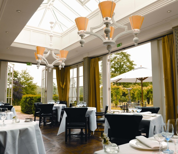 The dining Room at Lime Wood Hotel
