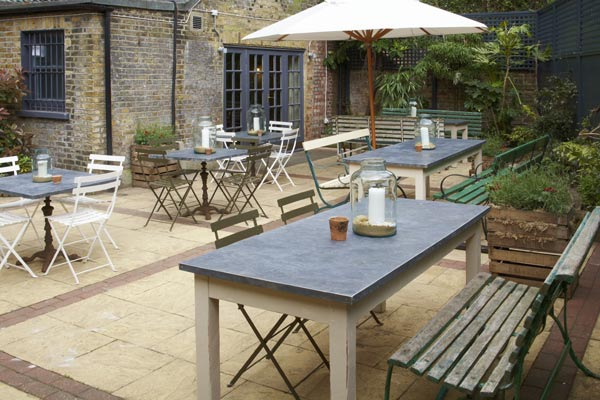 The terrace at Drapers Arms islington