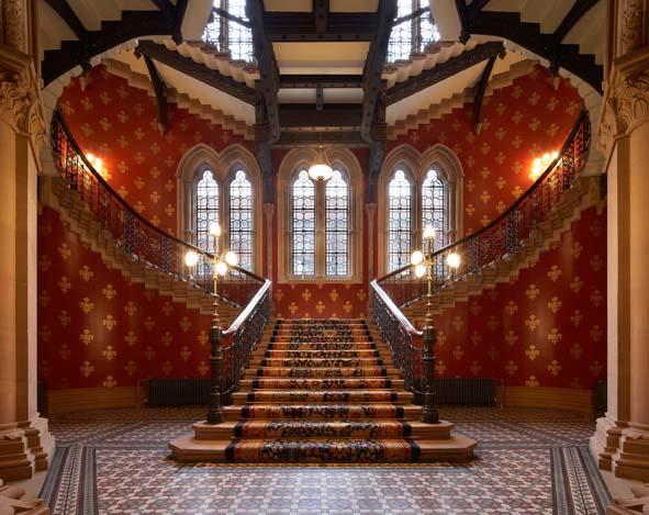 The famous corridors at The St Pancras Renaissance hotel