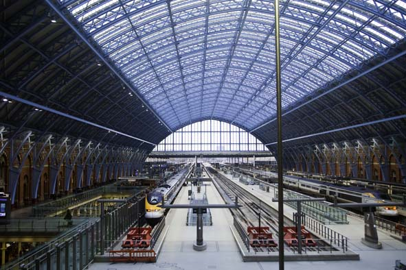 Station view at St Pancras Renaissance Hotel