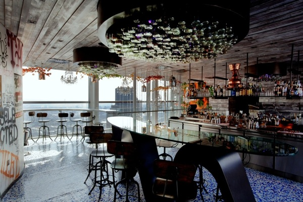The bar at Duck & Waffle London
