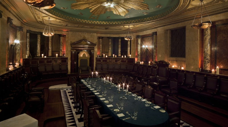 The Masonic temple at Andaz