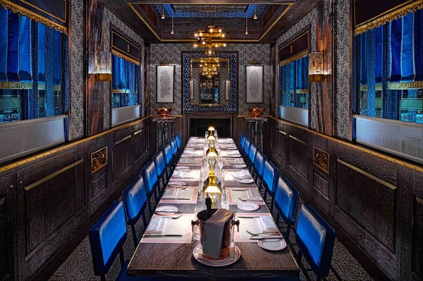 The private dining room at Bob Bob Ricard