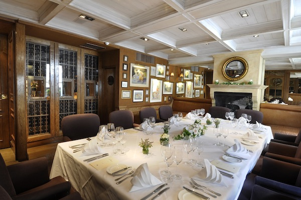 The private dining room at Clos Maggiore