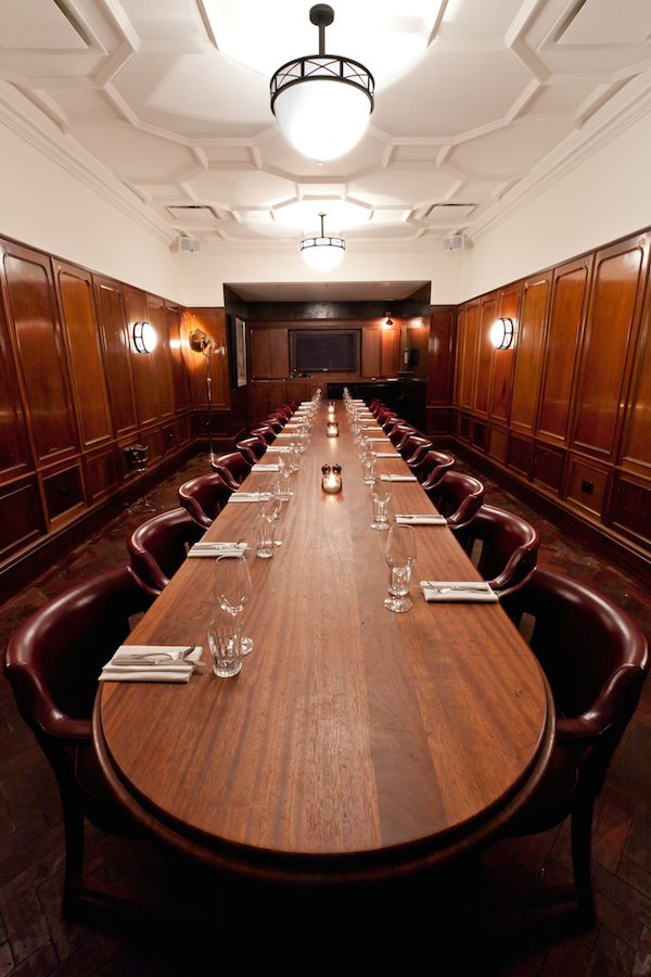 The private dining room at Hawksmoor Guildhall
