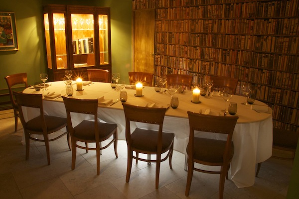 the private dining room at hedone in Chiswick