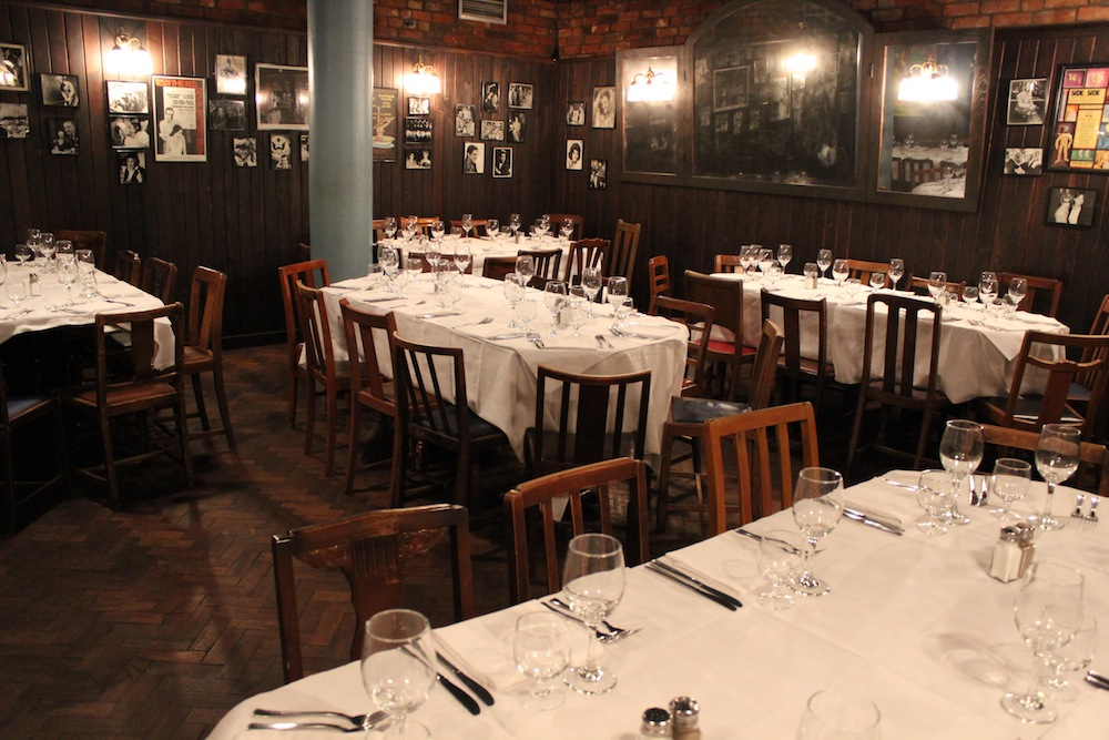 The private dining room at Joe Allen