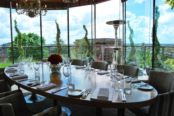 The private dining room at Kensington Roof Gardens