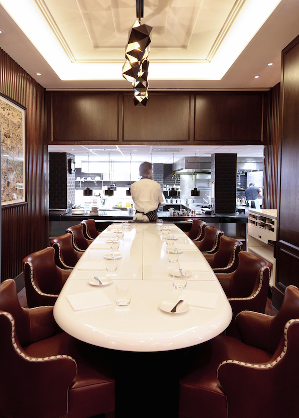 The chefs table at Marcus Wareing