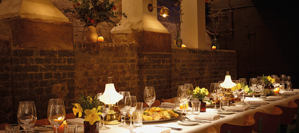 The private dining room at Merchants Tavern