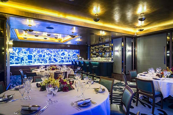 Merveilleux The Banquettes, Booths And Chairs Are Upholstered In Aqua Coloured Leather  And The Walls Are Adorned With A Keppel Ribbed Silk Fabric. Lunch Or Dinner  Can ...