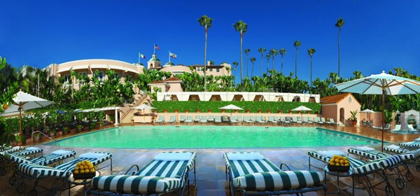 The pool at the Beverley Hills Hotel