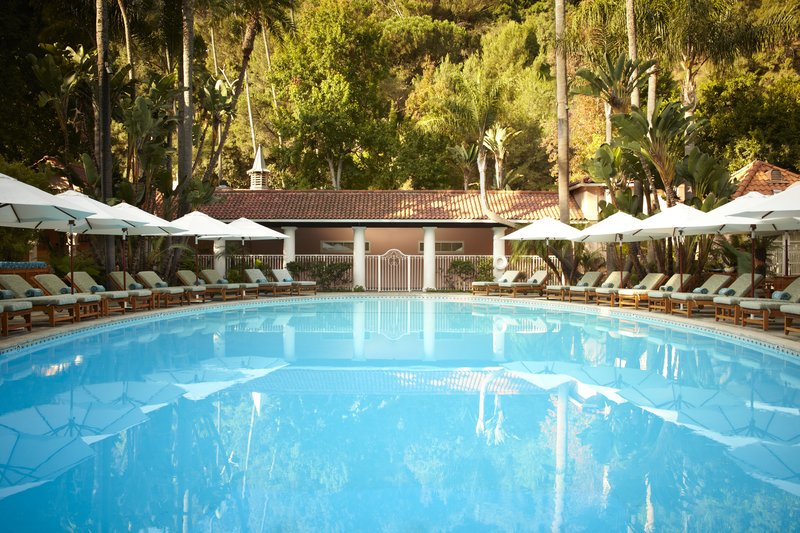 The pool at Hotel Bel Air
