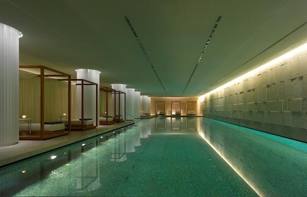 The swimming pool at the Bulgari Hotel