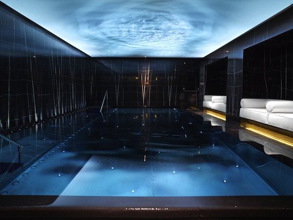 The swimming pool at the Corinthia Hotel London