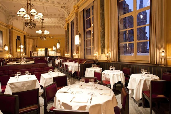 The dining room at The Gilbert Scott restaurant