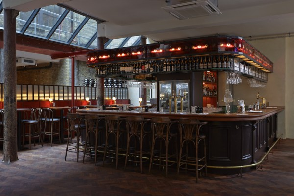 The bar at Merchants Tavern in Shoreditch
