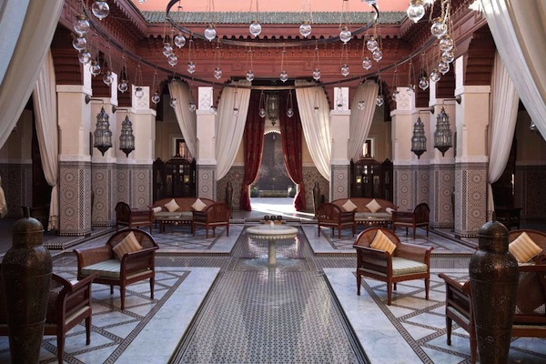 The lobby at Royal Mansour in Marrakech