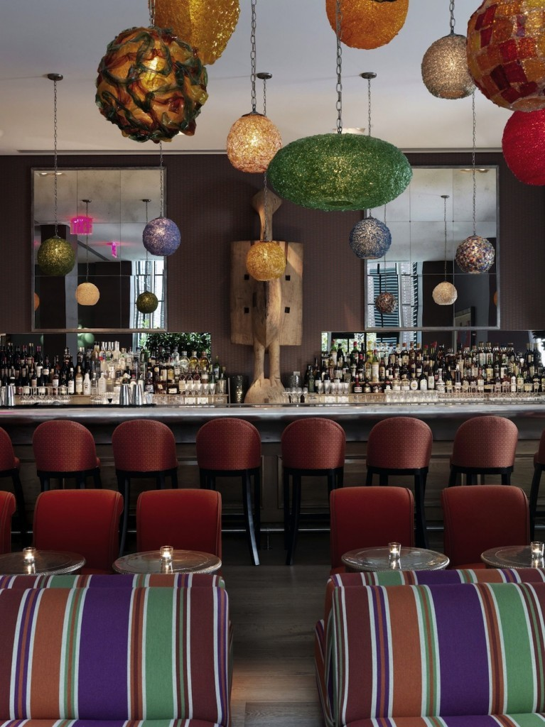 The bar at the Crosby Street Hotel in New York