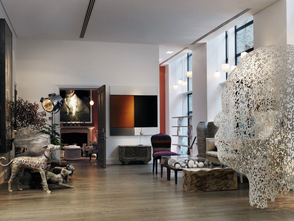 The lobby at the Crosby Street Hotel in New York