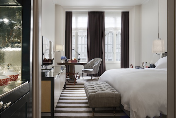 The bedrooms at Rosewood London