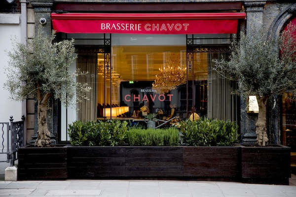 The exterior to Brasserie Chavot at the Westbury Hotel