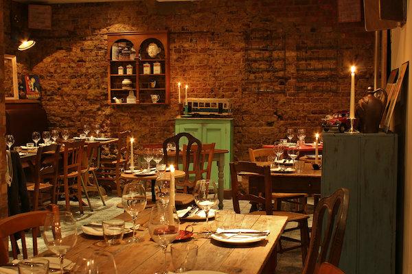 The dining room at Blanchette Restaurant in Soho