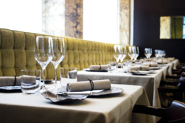 The interiors at Club Gascon restaurant