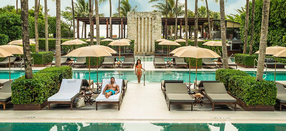 The pool at The Setai Miami