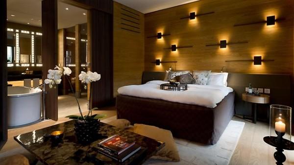 The bedrooms at the Chedi Andermatt