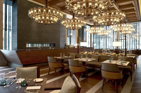 The restaurant at the Chedi Andermatt