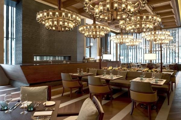 The restaurant at the Chedi Andermatt