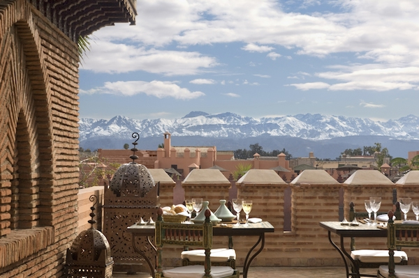 The view at La Sultana in Marrakech