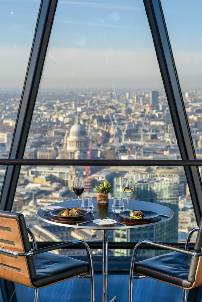 The Gherkin restaurant in London