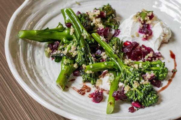 Grilled tenderstem broccoli at Picture Restaurant