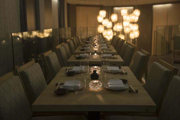 The dining room at Kouzu restaurant in Belgravia