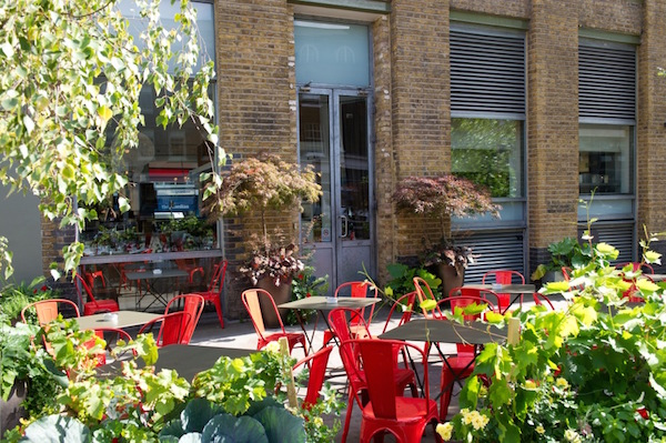 The terrace at Bistrot Bruno Loubet at The Zetter Hotel