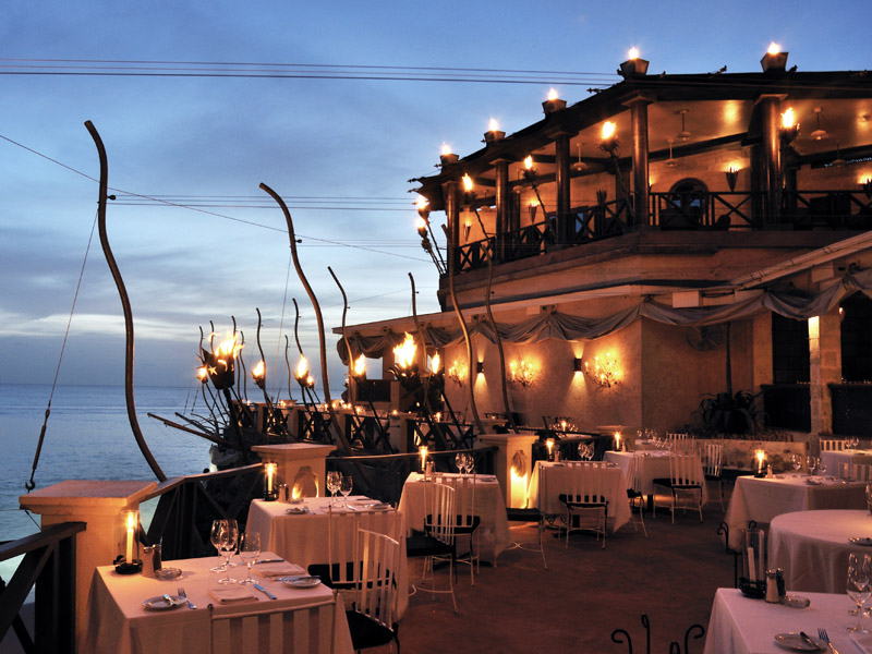 The Cliff Restaurant in Barbados