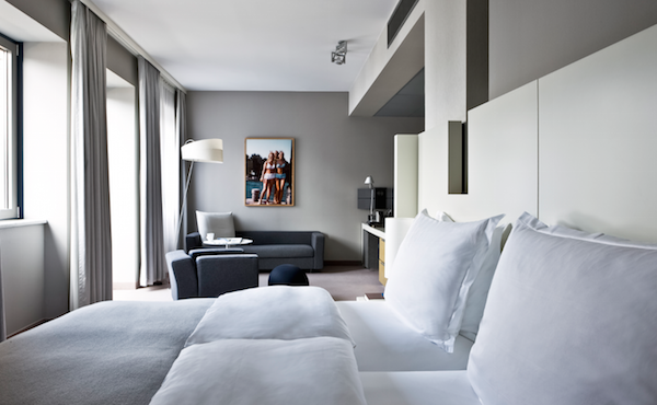 Bedrooms at the Sofitel Hamburg