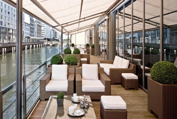 The terrace at the Sofitel Hamburg Alter Wall